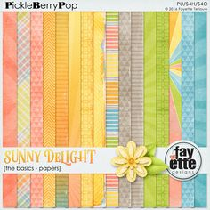 Sunny Delight The Basics - Papers By Fayette Designs