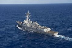 Guided-missile destroyer USS William P. Lawrence (DDG 110) steams in the Pacific ocean during Rim of the Pacific 2016.