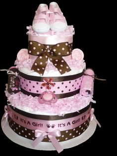 All Yummy Cakes - Baby girl reveal #cake