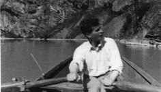 Wittgenstein rowing from Skjolden to his house, 1931
