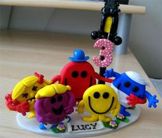 mr men and little miss - clay