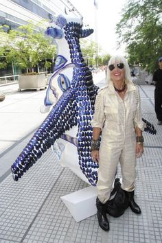 Artist Marta Minujin at the Buenos Aires' Cow Parade-