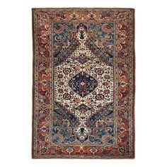 "Antique Bakhtiar Wool Rug - 4'7""x6'7"""