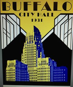 Digital Illustration is now complete! Ready to print for my first #October venue! Stay tuned for details! #cityhall #buffalove #sabers #color #graphic #instaartist #illustration #graphicdesign #artdeco #ny #instagood #potd #like #l4l #building #digital #instagood #yellow #blue #follow by shaunalouise84