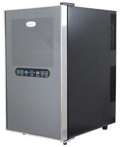 NewAir AW-182ED 18 Bottle Dual Zone Wine Cooler with Mirrored Finish