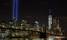 Tribute in Light marks 14th anniversary of the September 11 attacks | Daily Mail Online