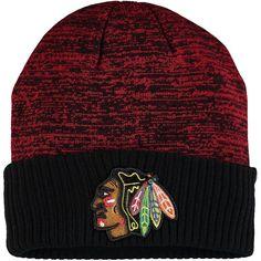 0373d194b18 Men s Chicago Blackhawks Fanatics Branded Red Space Dye Cuffed Knit Hat