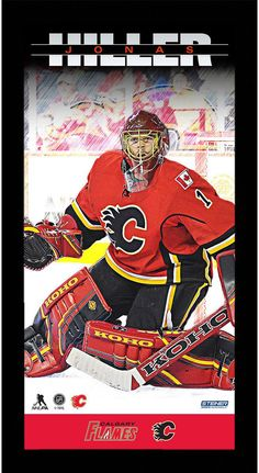Jonas Hiller Calgary Flames Player Profile 10x20 Framed Photo