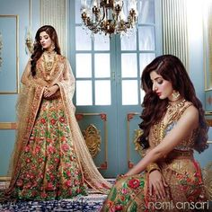 Mawra Hocane Modelling For Nomi Ansari Pakistani couture