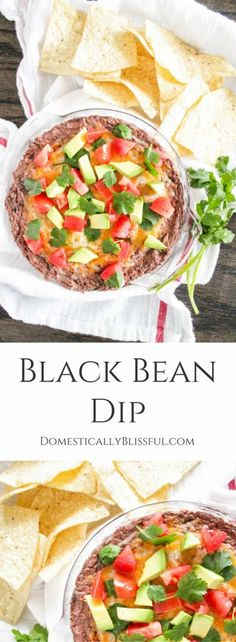 A Black Bean Dip that is creamy, smooth, light, & filled with flavor. | vegetarian party dip | vegetarian Mexican appetizer | quick side dish | make ahead party recipe