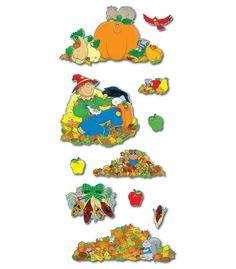 autumn-themed bulletin board set