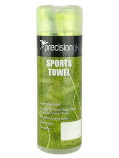 PRECISION GK SPORTS TOWEL 66 X 43CM - GREEN