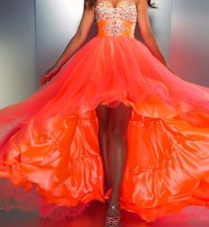 Hot lava fiery orange dress  Orange Klänning 4f536cb2d5e8b