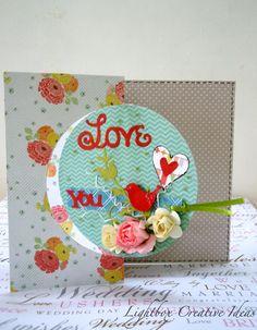 Love you Flip it card - Scrapbook.com