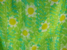 Vintage  vera scarf in green yellow and white lady by FeliceSereno, $12.00