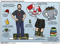 Wil Wheaton Paper Dolls (in case you haven't been following along Wesley Crusher is an adult now)