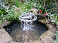 fontaine sculpturale très moderne