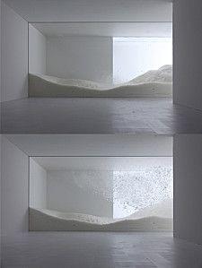 Sensing Nature: The Snow, installation by Tokujin Yoshioka at the Mori Art…