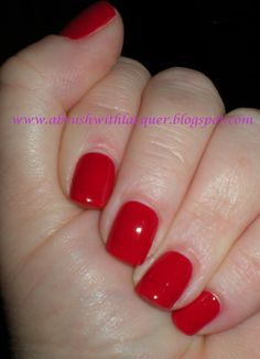 Love this color:  China Glaze:  China Rouge.  Bought my own bottle :-D