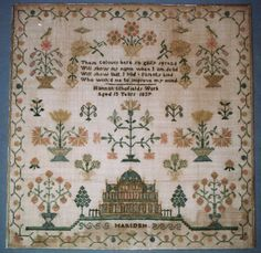 A lovely and intricate embroidery in very good condition.  The embroidery was treated  by Spicer Art Conservation.