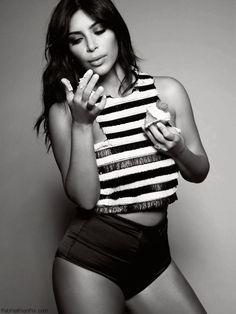Sexy Kim Kardashian for ELLE UK January 2015. #kimkardashian