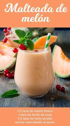 Splendid Smoothie Recipes for a Healthy and Delicious Meal Ideas. Amazing Smoothie Recipes for a Healthy and Delicious Meal Ideas. Healthy Juices, Healthy Smoothies, Healthy Drinks, Gourmet Recipes, Mexican Food Recipes, Vegan Recipes, Healthy Milkshake, Smoothie Drinks, Cantaloupe Smoothie
