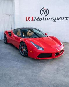 The Ferrari 488 GTB was unveiled at the 2015 Geneva Motor show and is currently in production. The car is an update for the Ferrari 458 with the 488 sharing some of the design an components. Ferrari 488 Gtb, Performance Wheels, Luxury Sports Cars, Geneva Motor Show, First Car, Car Manufacturers, Hot Cars, Car Ins, Vehicles