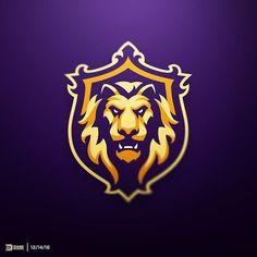 Royal Lion Sports Logo by Derrick Stratton Logo Esport, Logo Branding, Badge Logo, Leon Logo, Sports Team Logos, E Sports, Learning Logo, Game Logo Design, Esports Logo