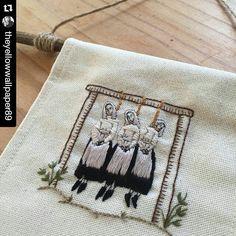 #xstitchersofinstagram – theyellowwallpaper89's public hanging embroidery banner
