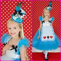 Alice in Wonderland Inspired Tutu Dress-alice, wonderland, blue, tutu dress, halloween, costume, queen of hearts