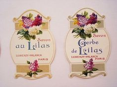 old paper labels from france