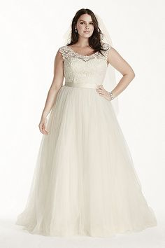 Tulle Ball Gown with Lace Illusion Neckline 9WG3741 #slimmingbodyshapers  Supporting curves with  slimmingbodyshapers.com for your special day