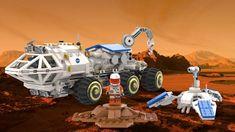 LEGO IDEAS - The Martian - Mars Rover & Pathfinder Branding Course, Lego Army, Lego Moc, Lego Ideas, Space Exploration, The Martian, Folded Up, Legos, Mars