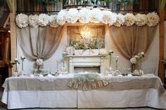 Elegant burlap!  No how-to in link, just the image.