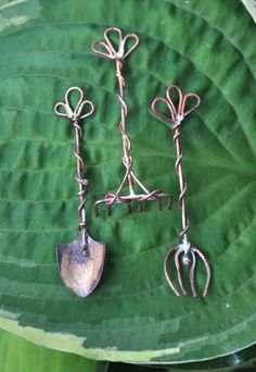 Making Mini Garden Tools - for fairy gardens or to wear as pins? Decisions, decisions...