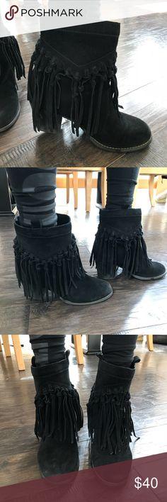 Sbicca fringe boots Ankle fringe boots by Sbicca. Barely worn. Sbicca Shoes Ankle Boots & Booties