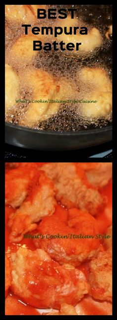 Best Tempura Batter Ever | What's Cookin' Italian Style Cuisine Fish Recipes, Seafood Recipes, Asian Recipes, Dinner Recipes, Cooking Recipes, Chinese Recipes, Chinese Food, Mojito, Salads