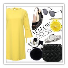 """Yellow dress"" by kseniapolanska ❤ liked on Polyvore featuring H&M"