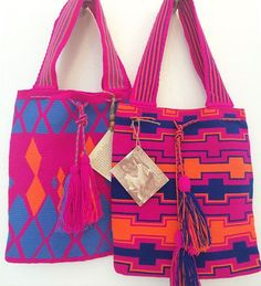 Wayuu Mochila bag Hot Pink is HOT!  #spring2016 #wayuu #handma#streetstyle #fashion #oneofakind #bohochic