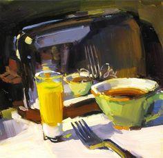 """THANKSGIVING BREAKFAST"" - Original Fine Art for Sale - © James Coulter"
