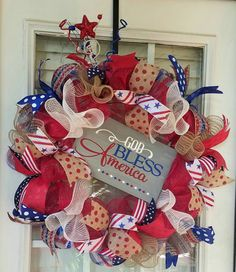 Check out this item in my Etsy shop https://www.etsy.com/listing/279485318/fourth-of-july-wreath-patriotic-front