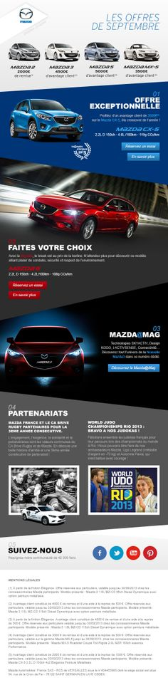 NEWSLETTER MAZDA - DA pour l'agence MONKEES #newsletter #mazda by VINCENT NEGRE