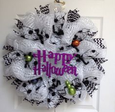 New Adorable Handmade Deco Mesh Spider Happy by whatameshbydiana, $75.00