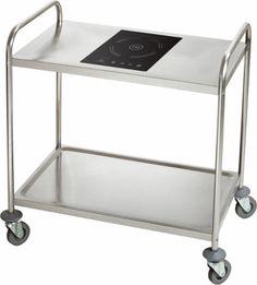 Induktions-Transportwagen, MTI-1000  komplett aus Edelstahl, fahrbar, mit eingebauter Induktionskochplatte, Timer: 0 - 180 Minuten, LCD Display, Soft-Touch-Bedienung, mit Überhitzungsschutz, Temperaturbereich: +60° - +240°C, Kochfeld: 30,2 x 37,2 cm (BxT) Anschlussw.: 230 V / 2000 W Abm.: 85,5 x 53,5 x 93 cm (BxTxH) Kitchen Cart, Home Decor, Stainless Steel, Homemade Home Decor, Kitchen Utility Cart, Kitchen Carts, Decoration Home, Interior Decorating