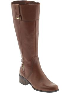 "avg. 16.5"" circumference / Bandolino Cabeza Wide boot in cognac, brown, or black $139"