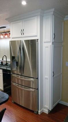 Astonishing Built Kitchen Pantry Design Ideas 56 There are two very important options that should be considered in every large kitchen pantry cabinet design. Although these options […] Kitchen Pantry Design, Kitchen Pantry Cabinets, Kitchen Redo, New Kitchen, Kitchen Storage, Kitchen Counters, Cupboards, Kitchenette Design, Kitchen Ideas