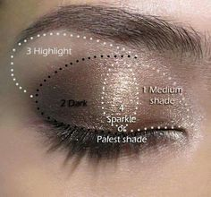how to apply eyeshadow this is the best diagram i have seen yet i rh pinterest com Applying Eyeshadow Techniques Natural Look Eye Makeup Diagram