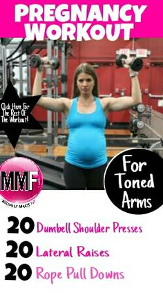 Pregnancy workout for toning the arms so they don't get huge during pregnancy.   http://michellemariefit.publishpath.com/no-flabby-arms-pregnancy-workout