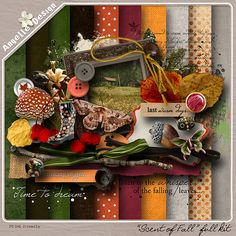 """Scent of Fall"" full kit :: Full & Mini Kits :: Memory Scraps"