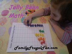 Easter Kids Activities Ideas Jelly Bean Graph Chart
